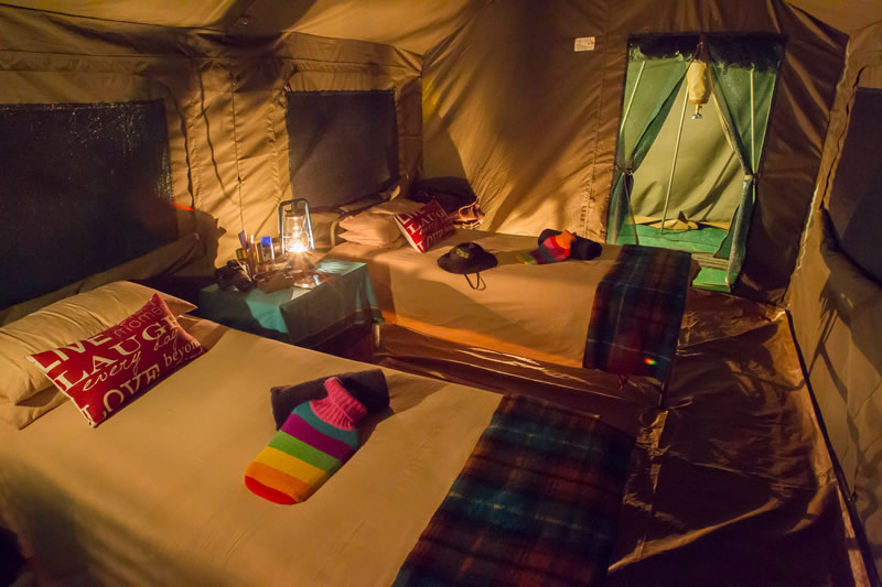 Tent - inside